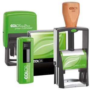 Green Eco Self inking stamps